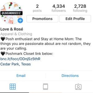 Other - FOLLOW ME ON INSTAGRAM @loveandrose512